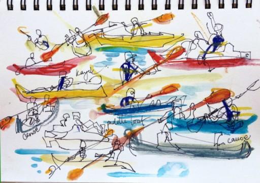 ภาพจาก :http://sketchaway.wordpress.com/2014/06/18/summer-is-kayaking-with-the-kids/