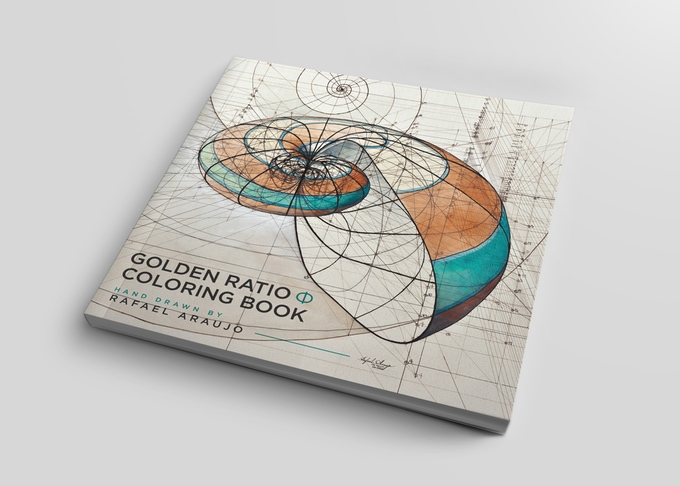Golden Ratio Coloring Book front cover by Rafael Araujo