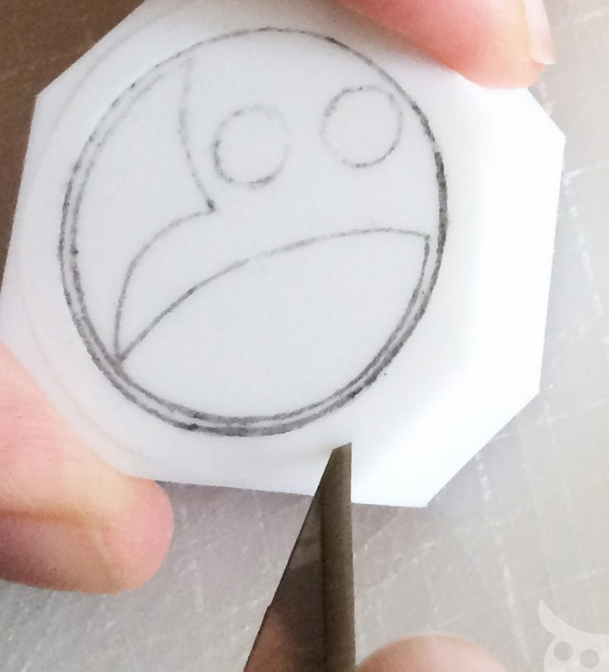 Rubber Stamp-Step 5a