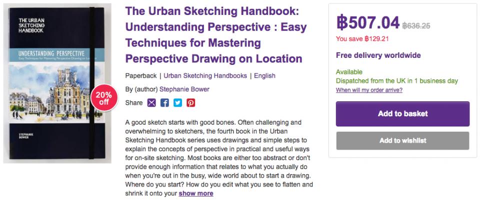 The Urban Sketching Handbook - Understanding Perspective - price