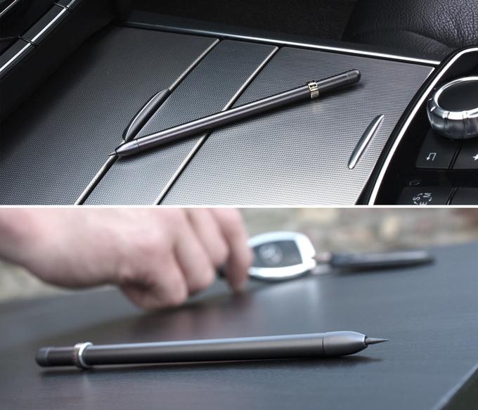 ดินสอ MAGNO สีเทาดำ Slate Grey ที่มา : kickstarter.com