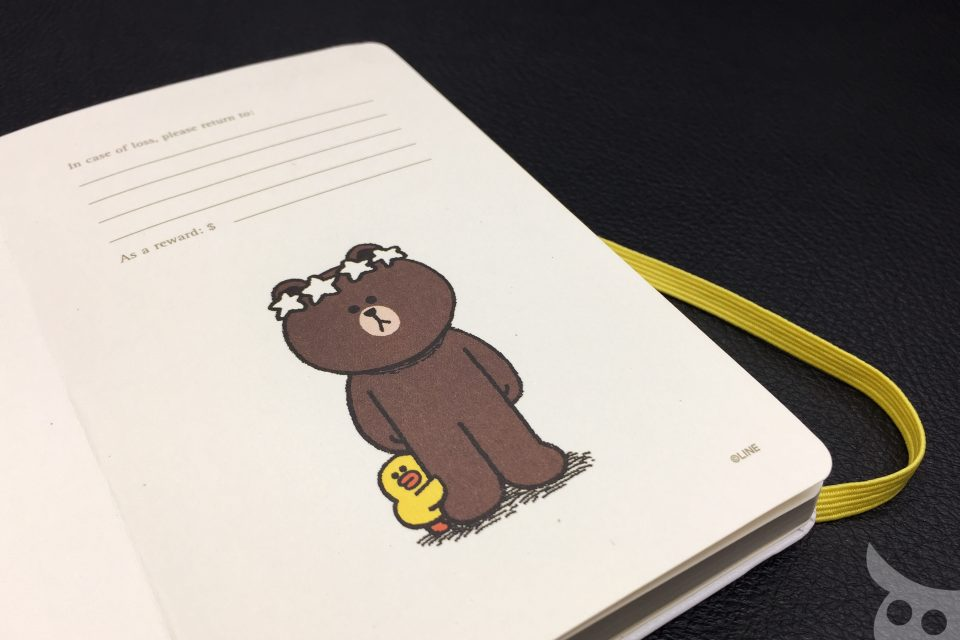 Moleskine Line Friends Brown-09