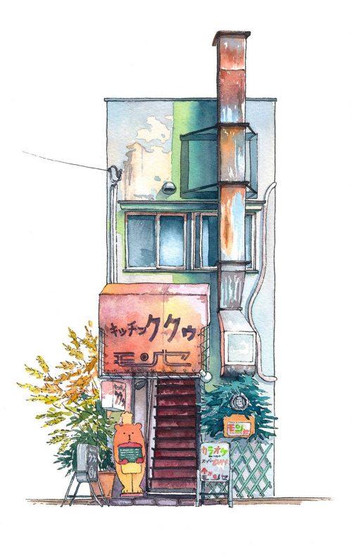 ผลงานลำดับที่ 9 ร้านอาหารต่างชาติ Kitchen Kuku ย่านคิชิจโยจิ (Kichijyouji) ที่มา : mateuszurbanowicz.com