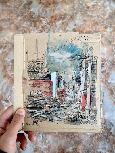ภาพตรอกซอยย่านเมืองเก่าในต้าหลี่ ที่มา : Borepanda.com