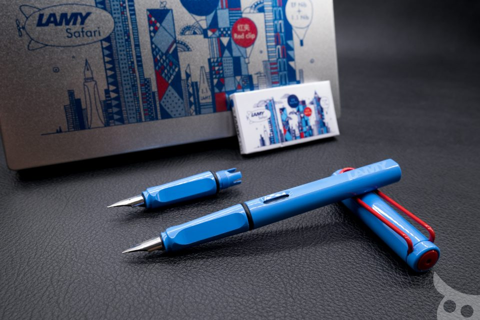 Lamy Safari Blue and Red 2015