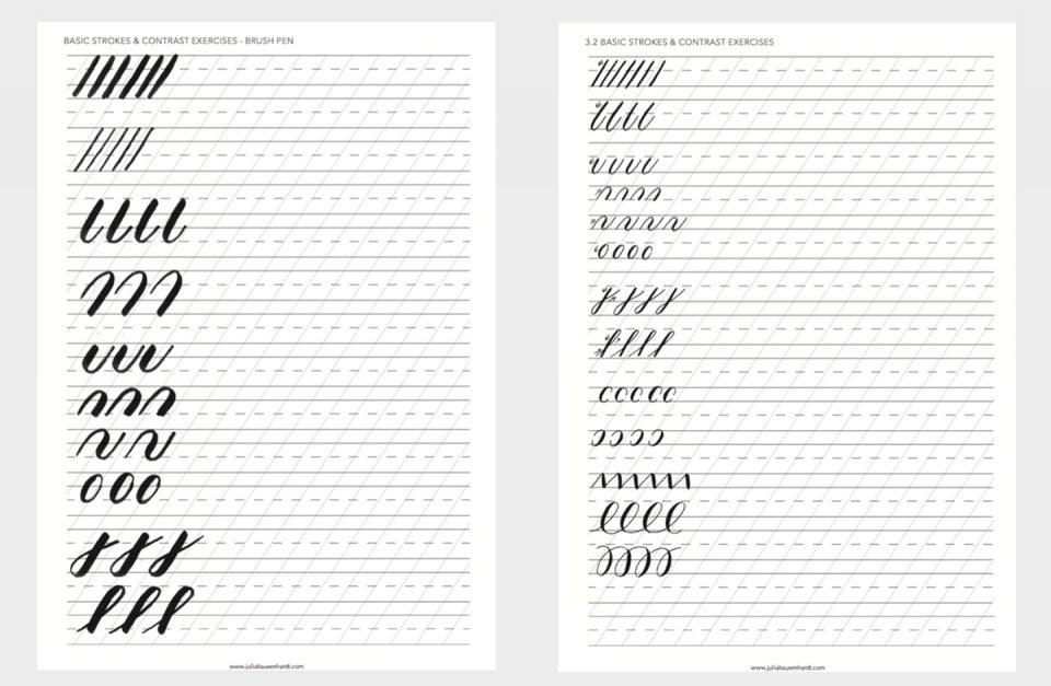 Worksheet สำหรับหัดเขียนเส้น ของ Julia Bausenhardt ที่มา : juliabausenhardt.com